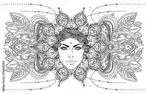 Obraz na płótnie Tribal Fusion Boho Goddess