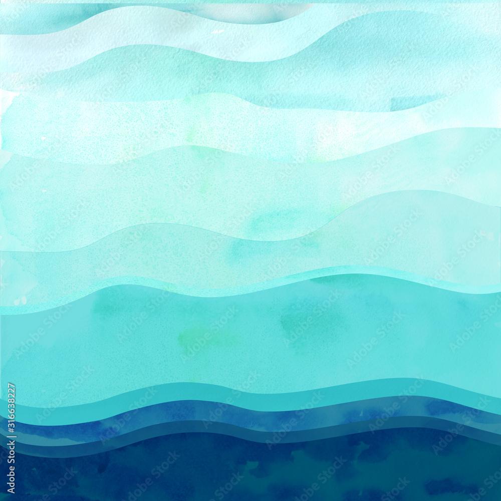 Marine background with waves. <span>plik: #316638227 | autor: dashaefremova</span>