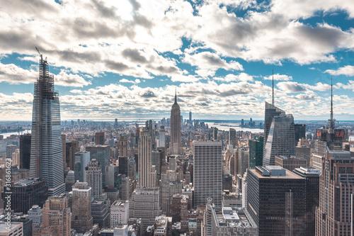 Billede på lærred New York, United States »; January 5, 2020: Top of the Rock in New York, beautif