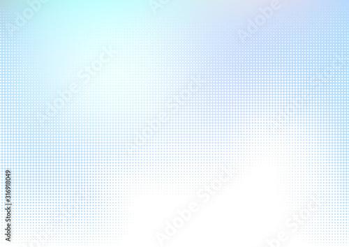 Tela 青いドットのハーフトーングラデーションデジタル背景