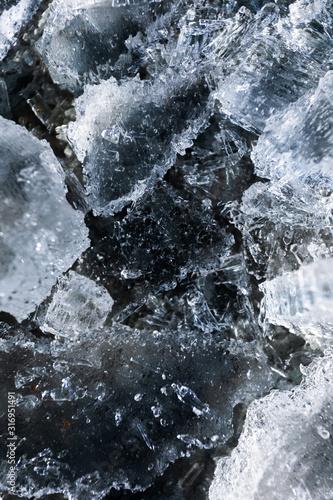 Frozen ice texture