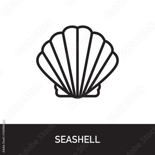 Tela Seashell Outline Icon Design