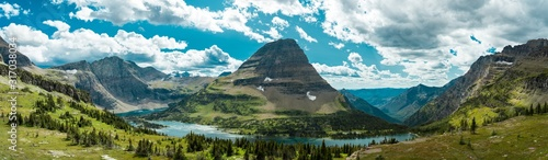 Panoramic shot of a mountain in the distance in Montana