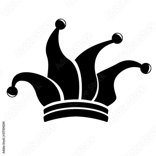 Obraz na płótnie Harlequin hat silhouette