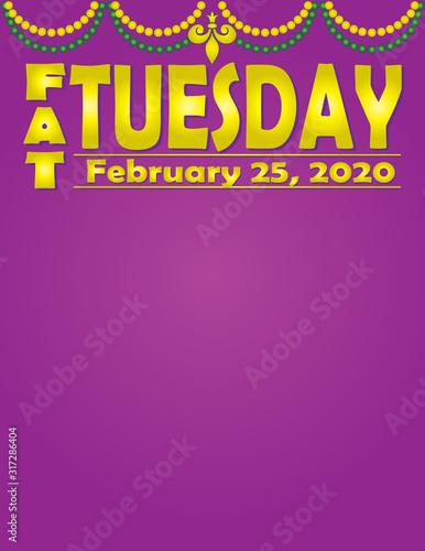 Wallpaper Mural Fat Tuesday February 25, 2020