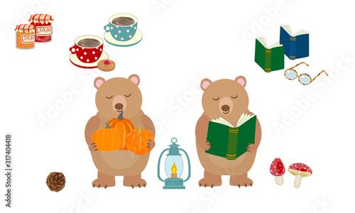Obraz na płótnie 食欲の秋と読書の秋
