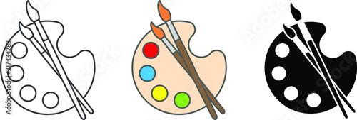 Canvas Print Palette icon, Art icon, vector illustration
