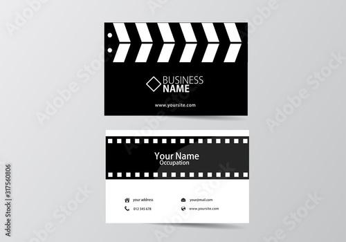 Fotografía movie open clapper board and film business card
