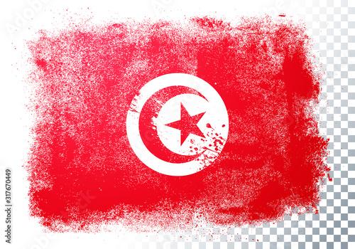 Fototapeta Vector Illustration Distressed Grunge Flag Of Tunisia