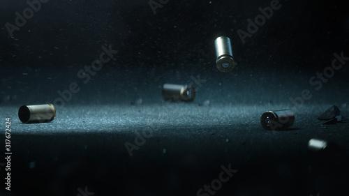 Canvas Print Bullet shells ground