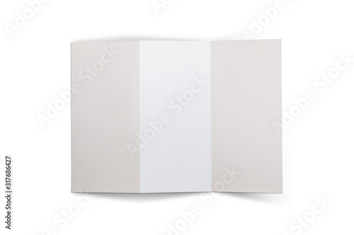 whie isolated trifold Fototapeta