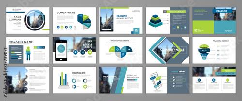Fotografia Presentation flyer set