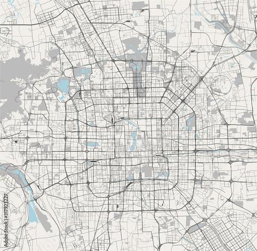 Fototapeta map of the city of Beijing, China