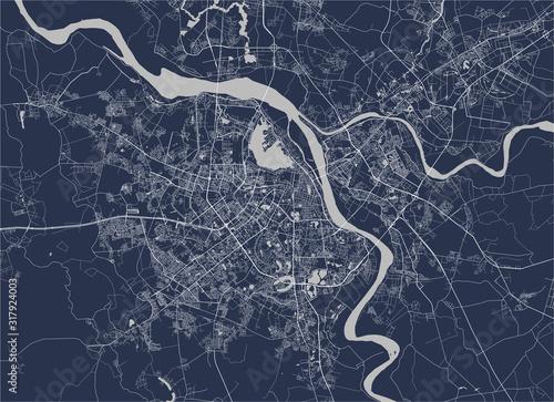 Obraz na plátně map of the city of Hanoi, Vietnam