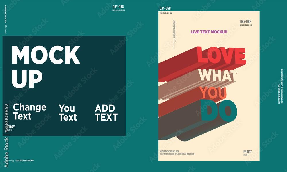modern typography template poster design mockup / social media / full editable text / you can change text <span>plik: #318009852 | autor: Ahmet Aglamaz</span>