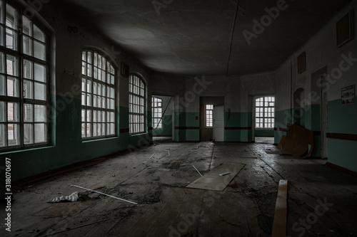 Fotografia Inside old Orlovka Asylum for the insane in Voronezh Region