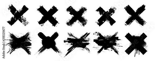 Fotografie, Obraz Vector set X black mark
