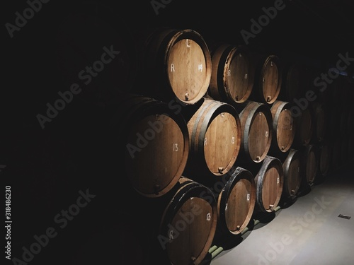 Fotografia WINE casks in cellar