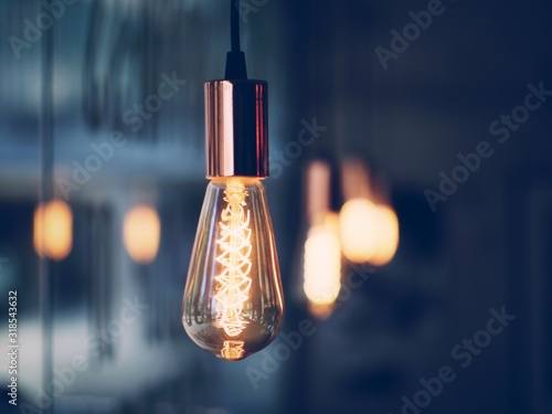 Tablou Canvas Close-Up Of Light Bulbs