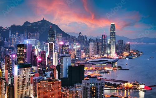 Photo Hong Kong - Victoria harbour at sunset