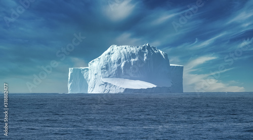 Fotografija Cruise ship encountering an iceberg, drake passage, antarctica