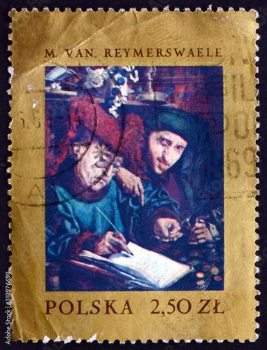 Fotografia Postage stamp Poland 1967 Tax Collectors, Marinus van Reymerswae