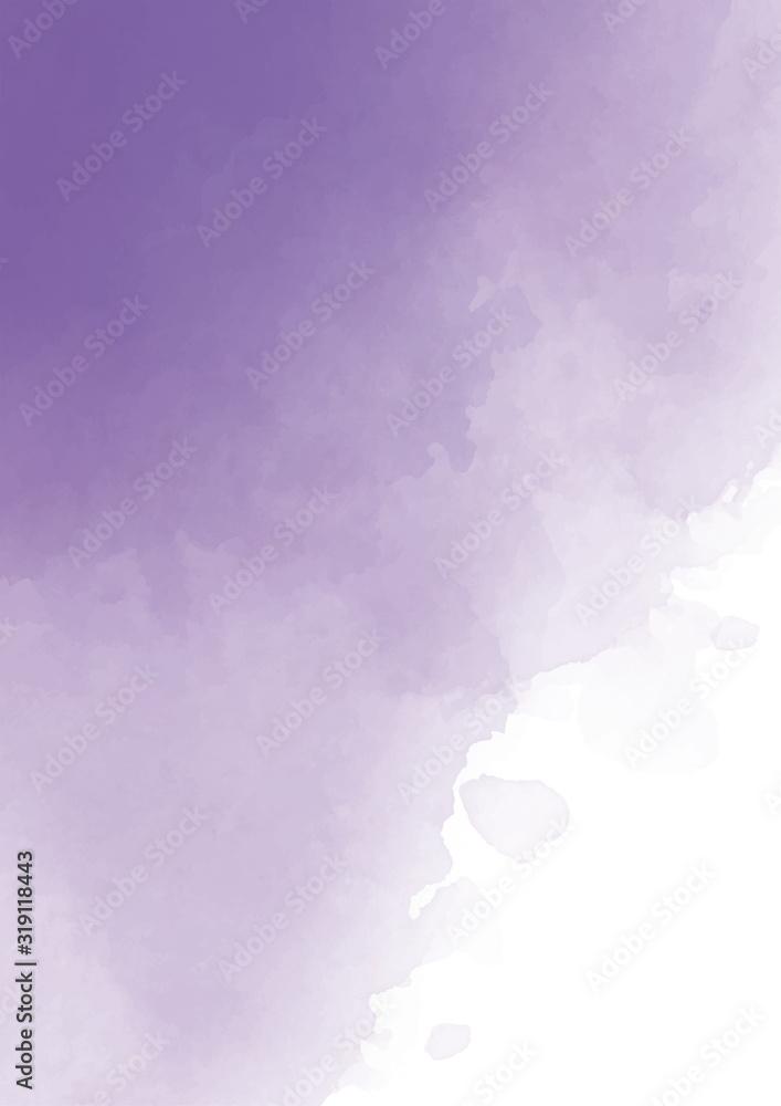 Abstract purple watercolor background. Lavender color, delicate postcard or invitation. <span>plik: #319118443   autor: deathvoice</span>