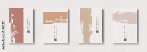 Fotografia, Obraz vector soft color ink brush stroke banner