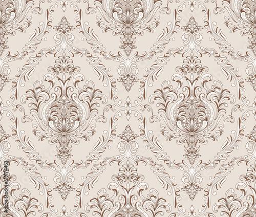 Fotografie, Obraz Damask seamless pattern element