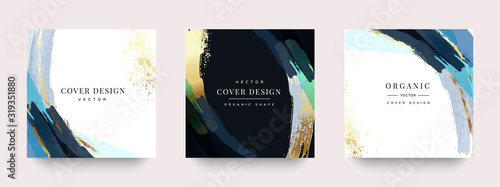 Luxury Social media stories and post template vector set.
