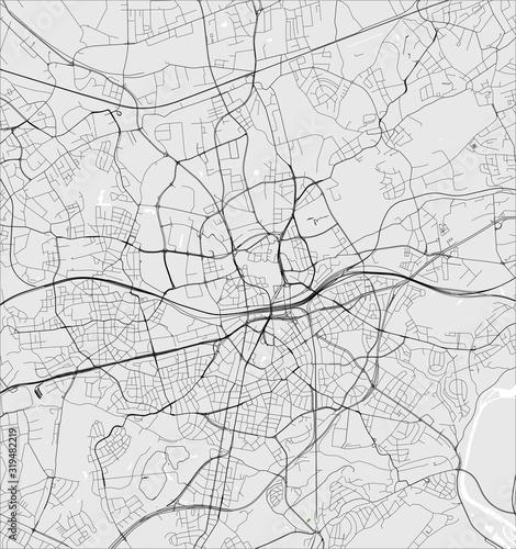 Fotografie, Obraz map of the city of Essen, Germany