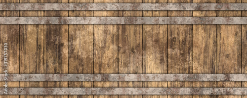 Photo 3d beer barrel wooden texture background