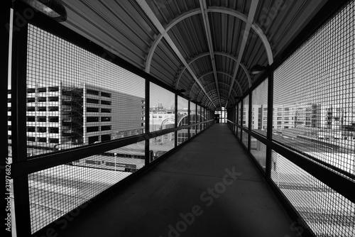 Fotografiet Empty Footbridge In City