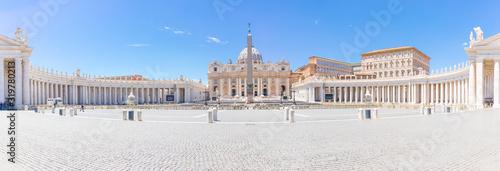 Leinwand Poster Petersplatz in Rom Panorama