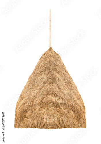 Haystack isolated on a white background. Fototapet