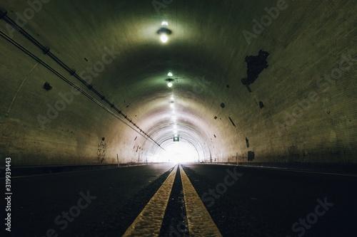 Valokuva Interior Of Illuminated Tunnel