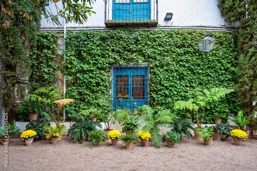 Fototapeta Courtyard garden of Viana Palace in Cordoba, Andalusia, Spain.