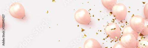 Fotografia, Obraz Festive background with helium balloons