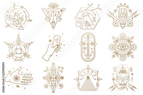 Fotografia Esoteric symbols