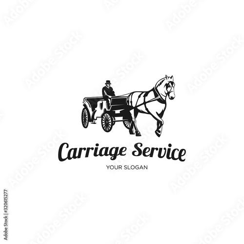 Carta da parati vintage carriage service logo