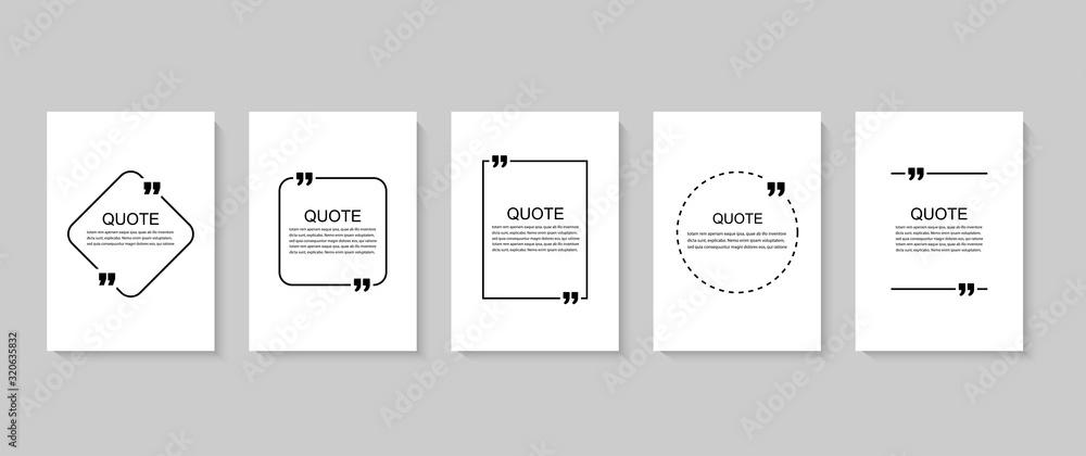 Inspirujący cytat dla twoich możliwości. Dymki ze znakami cudzysłowu. Ilustracji wektorowych <span>plik: #320635832 | autor: 4zevar</span>
