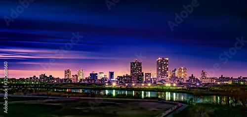 Foto リバーフロントの夜景(川口市高層ビル群)