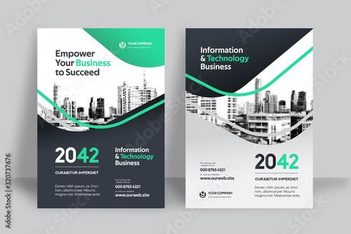 Fotografia City Background Business Book Cover Design Template