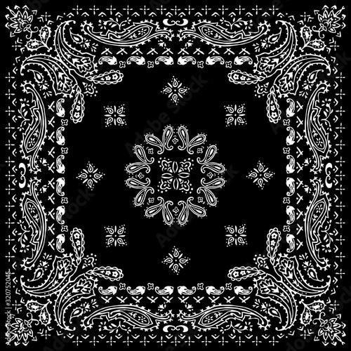 Paisley textile pattern vector illustration for bandana , scarf etc Fototapet