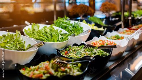 Fotografia, Obraz Vegetarian culinary buffet