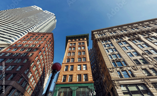 Tall buildings of Boston city downtown