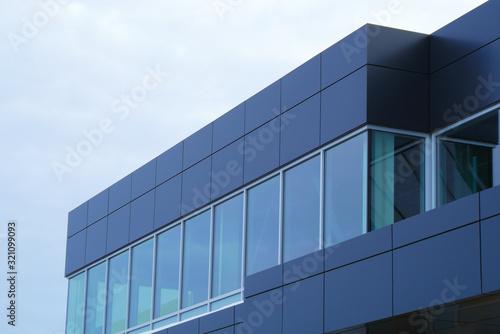 Canvas Print modern building facade aluminum structure workplace