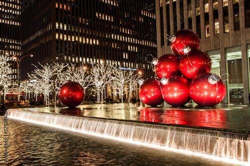 Photo red Christmas balls