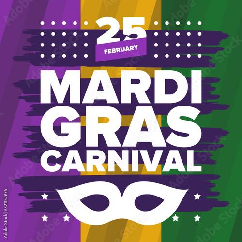 Wallpaper Mural Mardi Gras Carnival in New Orleans