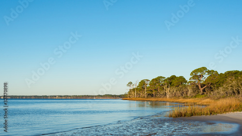 Canvas Print Cove on the River